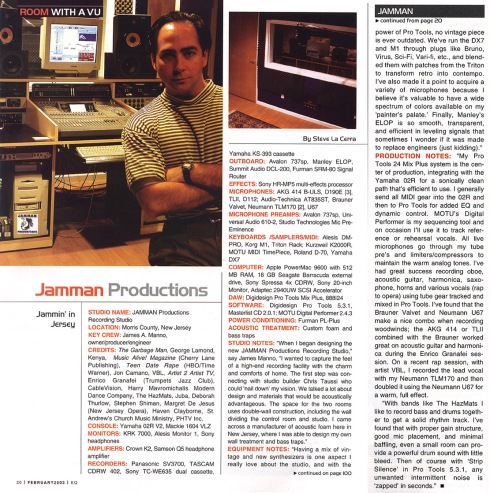 JAMMAN in EQ Magazine
